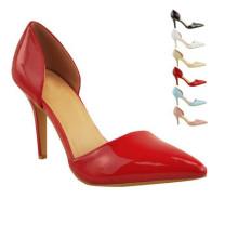 Moda clásica de moda tacón alto señora vestido zapatos (s19)