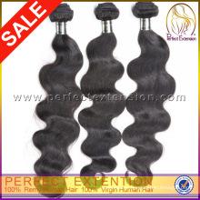 Cor natural 5a corpo onda italiana Remy cabelo virgem