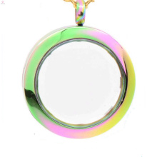 Engrave colgante flotante llavero medallón, medallón puerta de locket