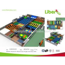 Große Projekt Indoor-Spielplatz Ausrüstung mit Trampolin Park für Amusement Qualität gesichert