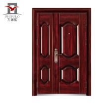 Puerta doble de acero de seguridad exterior doble de alta calidad y bajo precio