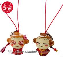 Keychain Plastic Toy, Animal Monkey
