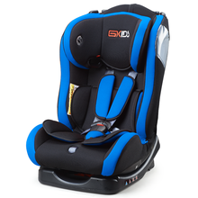Baby car seat with red blue cover