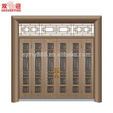Haupt-Muti Blätter Tür Designs Schmiedeeisen Türen aus China