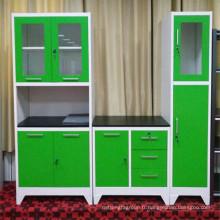 Abattre les meubles de maison pour les armoires de cuisine en métal de couleur en option