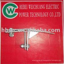 Conexões de energia elétrica-braçadeira de tensão fot torre