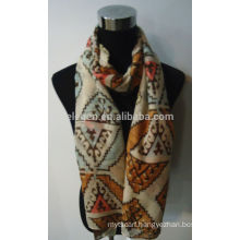 Fashion Geometric Printed Rayon Scarf