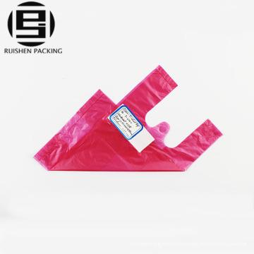 Розовый цвет ручки T-рубашка пластиковые мешки упаковки