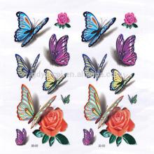 Tatuaje de etiqueta engomada temporal 3D mariposa-forma sexy para cubrir cicatrices
