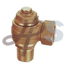 Válvula de virola tipo latão e bronze giratória