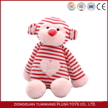 Custom any style big size valentine's day plush soft toy monkeys