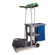 hospital Janitorial Cart hotel folding Janitor Cart housekeeping mop Cleaning trolley