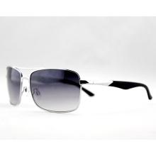 Gafas de sol de moda de logotipo de moda de metal para hombres (14128)