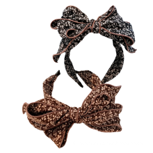 Bandeau fascia per capelli Retro Bow Headband Leopard For Women Hair Accessories Cotton French Hairband Fairy For Girl Wholesale
