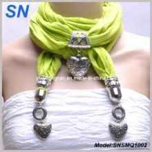 Bufanda colgante corazón verde con joyería (SNSMQ1002)