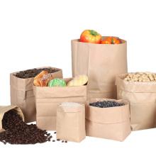 Benutzerdefinierte billige Lebensmittelverpackungen Brown Kraftpapier Brotbeutel, Großhandel akzeptieren kundenspezifische fettdichte FOOD PAPER BAG