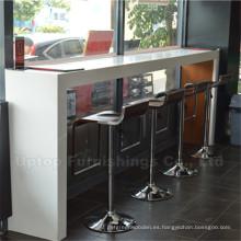 Mesa de cuero artificial y taburetes de restaurante de silla alta (SP-CS136)