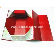Caja de regalo de embalaje plegable de papel personalizado