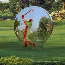 chinese outdoor sculptures metal craft mirror ball sculpture