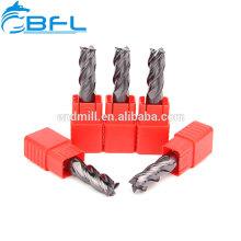 Fraise en bout plate en carbure, Fraise en bout carrée fabriquée par la Chine pour le travail des métaux