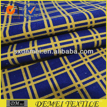Compruebe algodón lona impresa de shaoxing