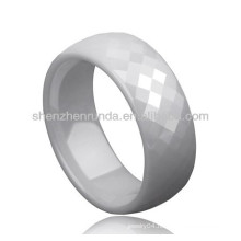 white color ceramic fashion rings jewelry couple lover rings custom design for men's women's rings jewellery manufacturer