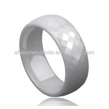 Branco cor cerâmica moda anéis anéis de jóias casal amante personalizado para anéis de mulheres dos homens jóias fabricante