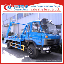 Dongfeng 8cbm capacidade de pular caminhão de lixo