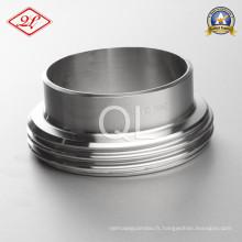 Isolation sanitaire en acier inoxydable 11851 DIN Union Welding Male