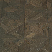 Suelo de parquet de roble de madera natural