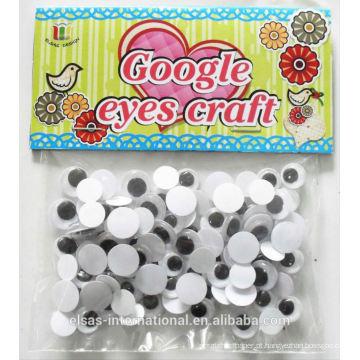 Wiggle olhos de plástico para animais para brinquedos de plástico, artesanato de artesanato olhos