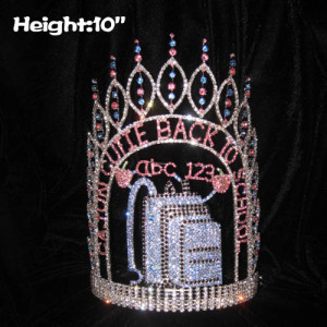 10in Height Crystal Back To School Pageant Crowns
