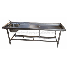 Stainless Steel Folding Autopsy table