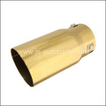 INLET 2.875 OUTLET3.5 SLANT CUT W NO RESONATED METALLIC GOLD EXHAUST TIP