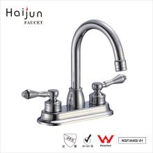 Haijun American Standards cUpc Thermostatic Dual Handle 3 Hole Washbasin Faucet