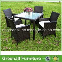 Настенный столик и стулья KD Style 4 Seater Rattan