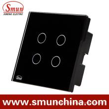 4 Tasten Schwarz Einfacher Touch und Fernbedienungsschalter