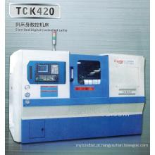 Preço da máquina de perfuração cama inclinada cnc torno máquina TCK420