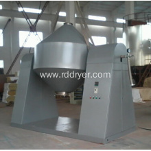 Double screw mixer for powder materials