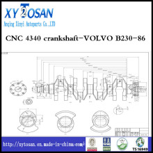 CNC 4340 Virabrequim-Volvo B230-86