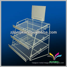 High quality custom sturdy metal supermarket fruit and vegetables shelf