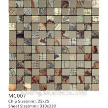 металлическая мозаика, плитка