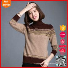 Nuevos diseños de lana de cuello de cuello alto para las señoras