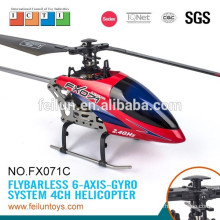 2.4G 4CH 6-axis gyro metal flybarless rc model helicopter with 7.4v rc helicopter battery