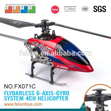 Lastest 2.4G 4CH metal flybarless flying fun long flight time rc helicopter model for kids