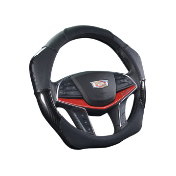 Customized Supplier for Black Carbon Steering Wheel Cover Special design Power assistance steering wheel cover supply to East Timor Supplier