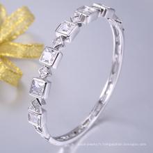 produits célèbres pour l'europe cubique zircone bracelet et bracelets en laiton bleu bracelet de mariée