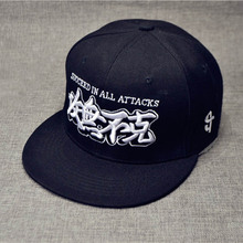 3 Embroidered Logo Flat Brim Cap