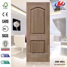JHK-M01 Deux panneaux et une conception en relief EV Walnut 518 HDF FSC Door Skin
