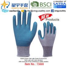 (Produtos de Patente) Luvas de Meio Verde revestidas com látex T5000